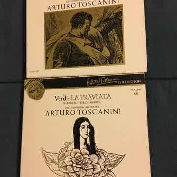 Verdi Arturo Tuscanini  volumes 58 & 60 RCA gold seal Otello and La Traviata Cd sets 1991