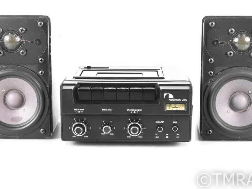 Nakamichi 350 Portable Cassette Recorder; ADS 2002 Power Converter / Speakers (21433)