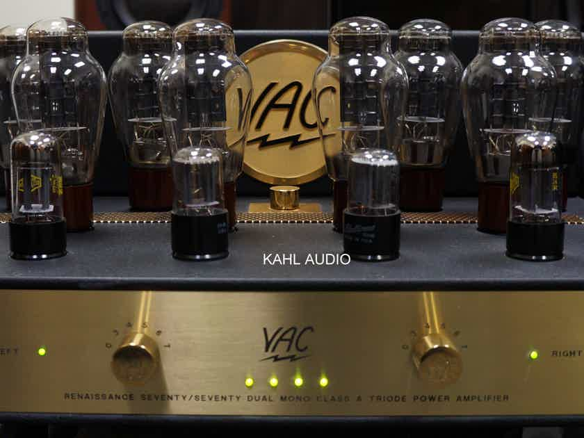 VAC Reference 70/70 MKIII tube stereo amp. 70W of magic from 300B's. $22,000 MSRP