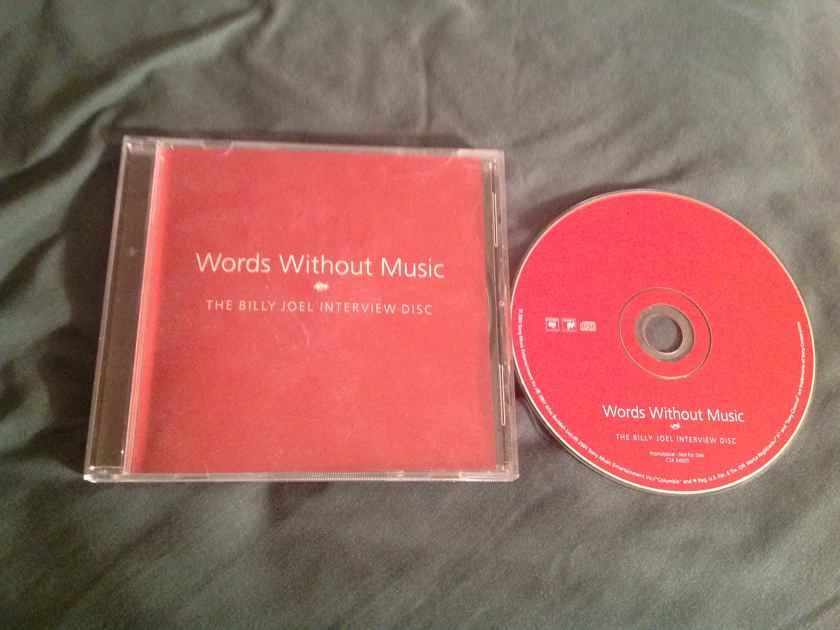 Billy Joel Words Without Music Promo Only Interview Columbia Records