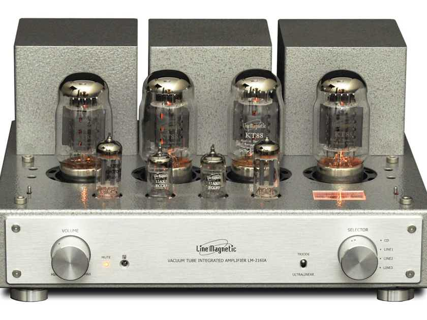 line magnetic 216ia integrated kt88 amplifier immaculate tube rh audiogon com Point to Point Tube Amp Simple Tube Amp Schematic