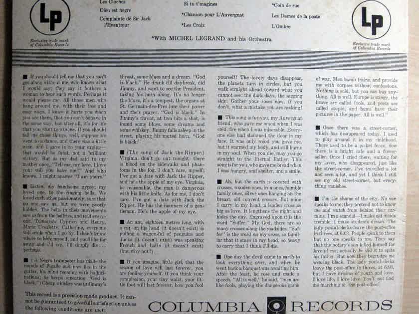 Juliette Greco  - Juliette Greco  - Mono 1960 Columbia Masterworks ML 5088