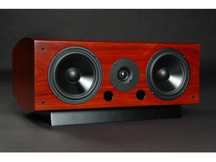 LSA LCR Center Channel / Surround Speaker Single; Rosewood w/ Base (New Old Stock) (12960)