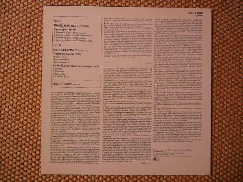 Stravinski-Schubert - Sonate & Impromus Op. 90 Harmonia Mundi 5170