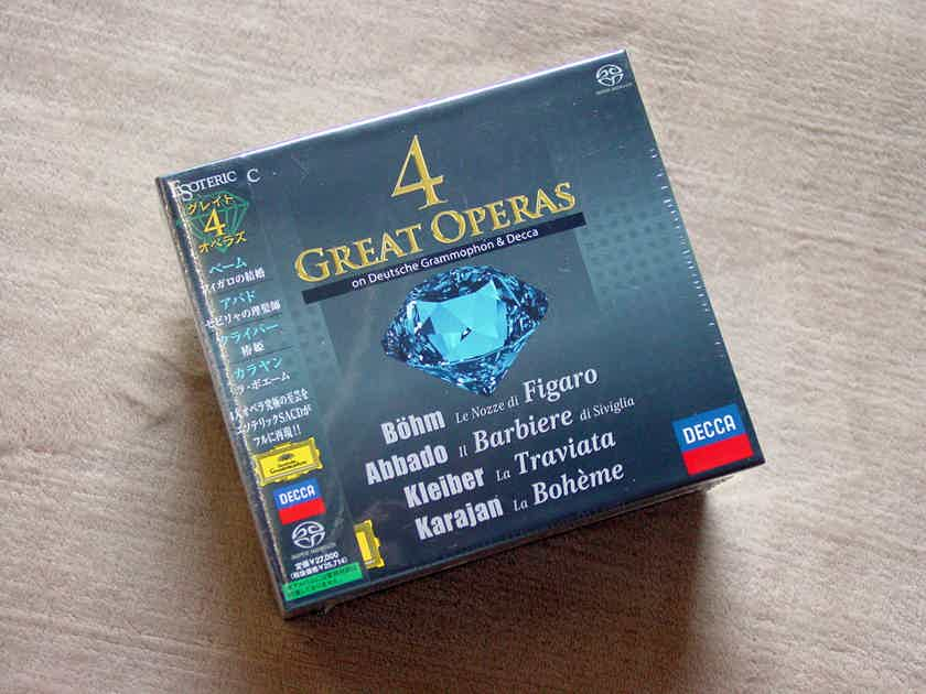 Esoteric 4 Great Operas on Deutsche Grammophon & Decca hybrid SACD/CD (9 discs).