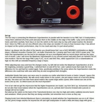 Townshend Audio Maximum Supertweeters Satin Black or Silver as new Suberb!