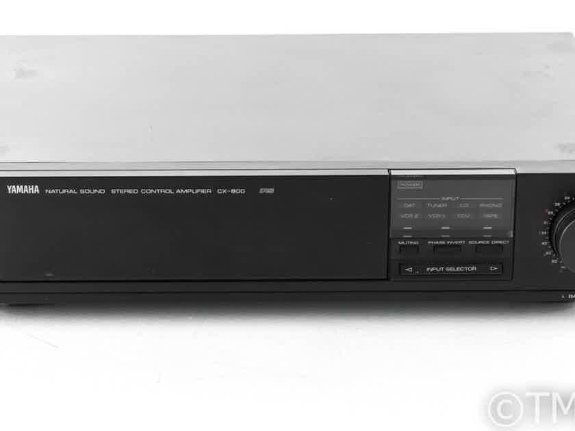 Yamaha CX-800/U Vintage Stereo Preamplifier; CX800U; MM / MC Phono; Remote (22718)