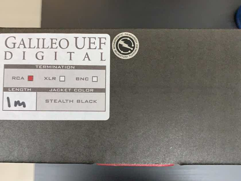 Synergistic Research Galileo UEF Digital Cables RCA 1m Never Used!!