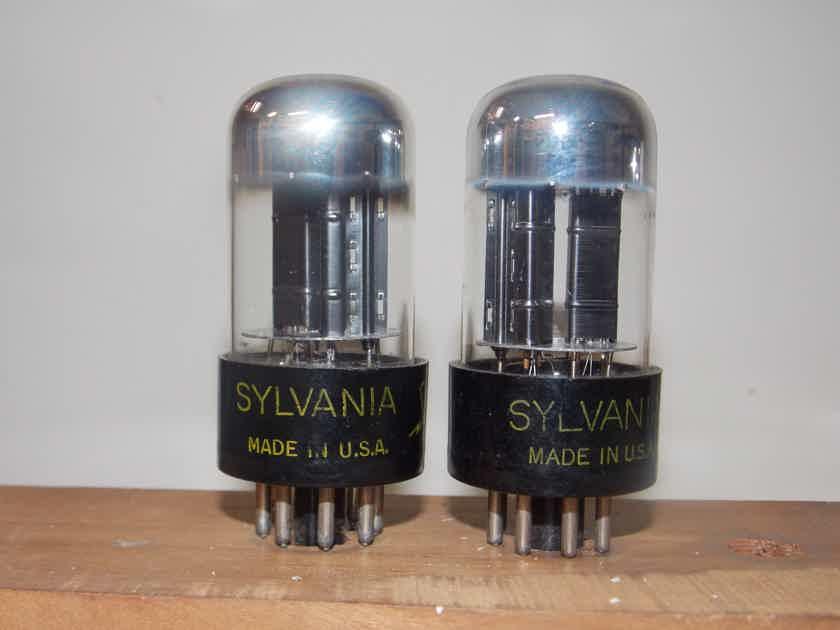 Sylvania 6SN7GTB chrome tops matched pairs