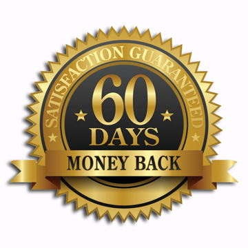 No risk 60-days Money Back Guarantee