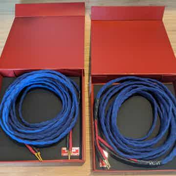 Speaker cables - Mauve (blue)