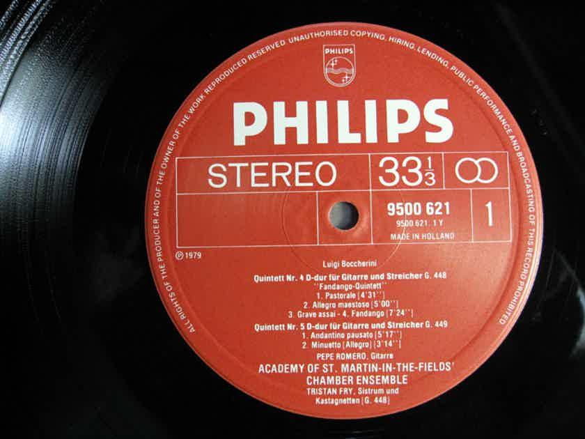 Boccherini - Pepe Romero, Academy Of St. Martin - Guitar Quintets · Gitarrenquintette Nos. 4, 5, & 6 - 1980 Netherlands Philips Records 9500 621