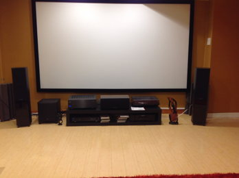 Dedicated Home Theater room in the mancave
