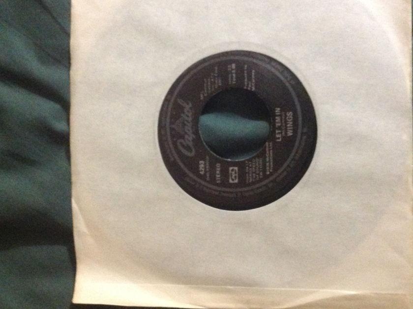 Wings - Let 'Em In 45 NM Black Capitol Label