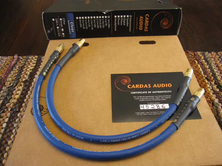 Cardas Audio Clear Rev.1 0.5m / 19.6 in. RCA IC Cables w/ AUTHENTICITY Cert.