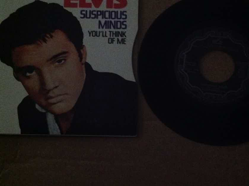 Elvis Presley  - Suspicious Minds/You'll Think Of Me RCA Records Canada 45 Single With Picture Sleeve Vinyl NM