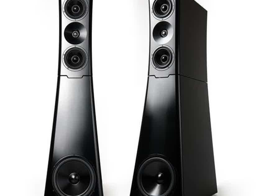 YG Acoustics Sonja™ 2.2 ultra-high-end medium-sized 3-way passive floor-standing speaker; Black (Pair)