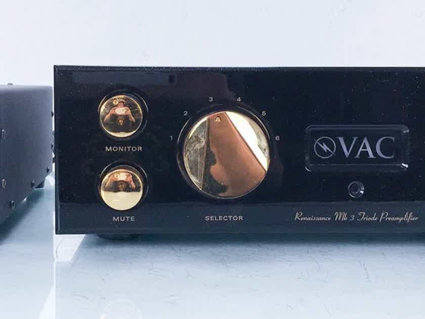 VAC Renaissance Mk 3 Stereo Tube Preamplifier MkIII; Remote (15008)