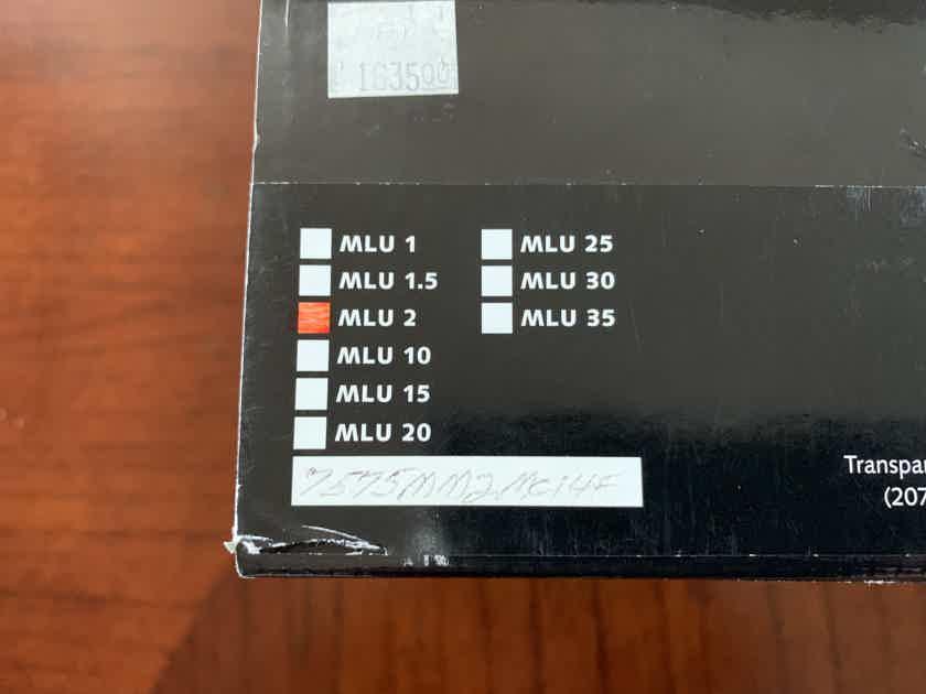 Transparent Audio MusicLink Ultra(MLU2) MM2 - 2 Meter Pair - NEW