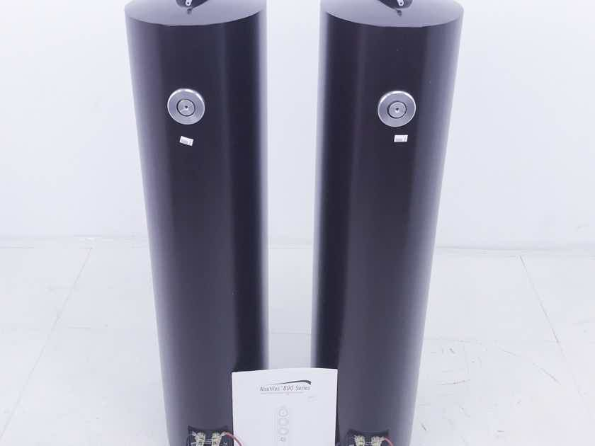 B&W Nautilus 804 Floorstanding Speakers; Red Cherry Pair (10436)