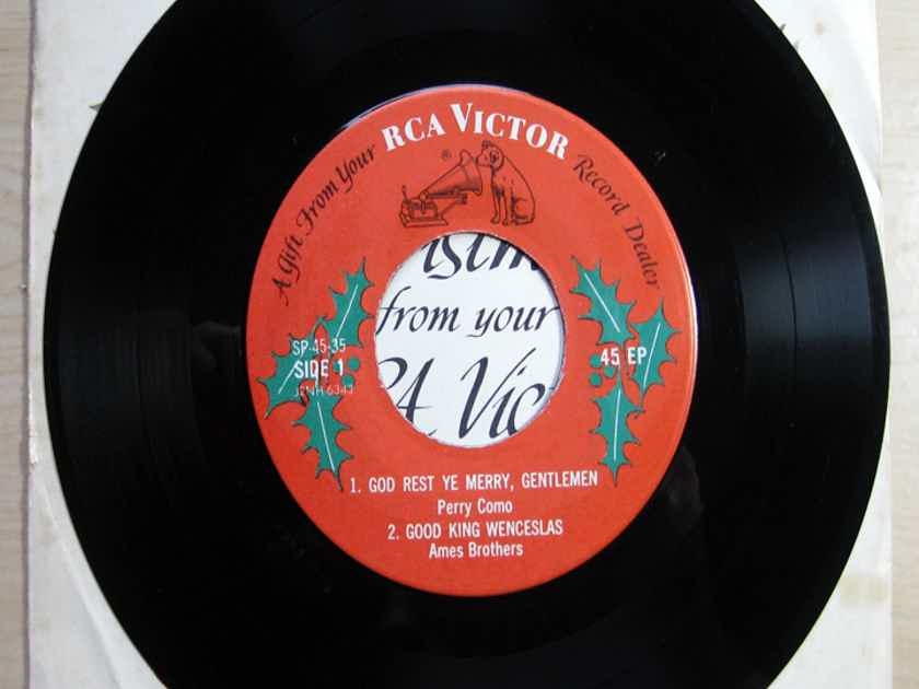 RCA RARE 1958 PROMO EP - Merry Christmas From Your RCA Victor Record Dealer - RCA Victor SP-45-35