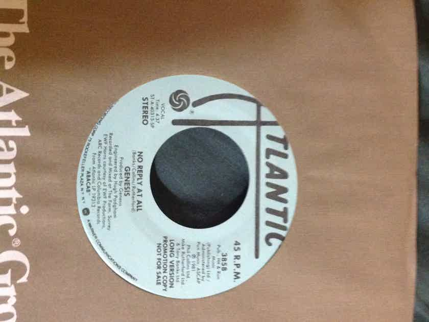 Genesis - No Reply At All Atlantic Records Promo 45 Single  Long & Short Versions NM
