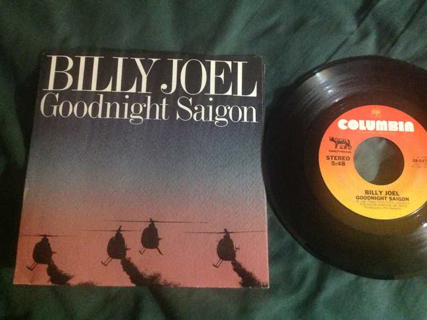 Billy Joel - Goodnight  Saigon/A Room Of Our Own Columbia Records 45 Single With Picture Sleeve Vinyl NM