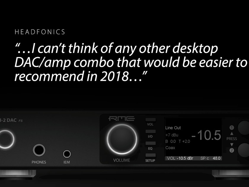 """RME - ADI-2 DAC and Headphone Amp -- Darko Audio Calls It """"The DAC to Beat"""" In This Price Range -- Free Shipping and 45-day Audition!!"""