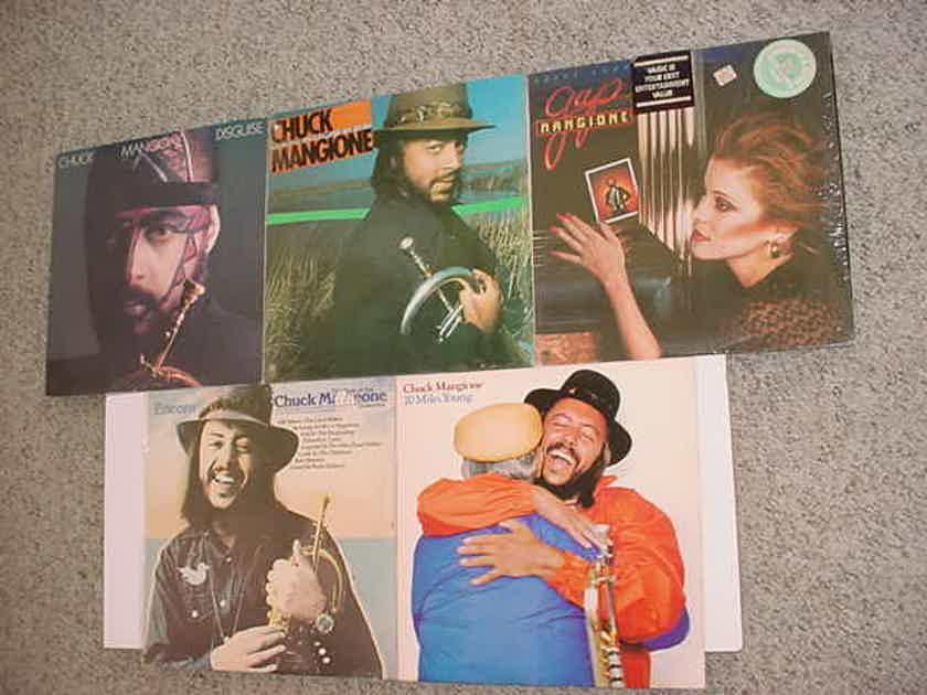 4 Chuck Mangione and 1 Gap Mangione  5 lp record lot