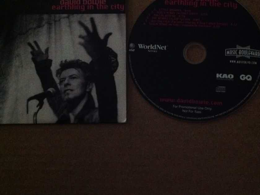 David Bowie - Earthling In The City AT & T World Net Service CD Six Tracks Live & Remixes