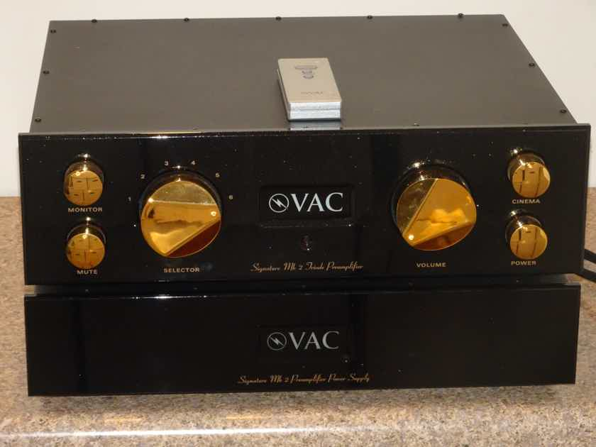 Valve Amplification Company Signature Mk2a SE VAC Preamplifier with phono stage