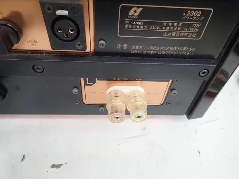 VINTAGE SANSUI B2302V POWER AMPLIFIER IN VERY GOOD CONDITION