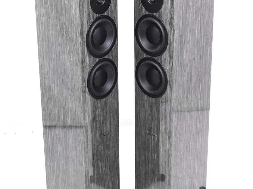 Dynaudio Focus 30 XD Active Floorstanding Speakers; High Gloss Grey Oak Pair (27200)
