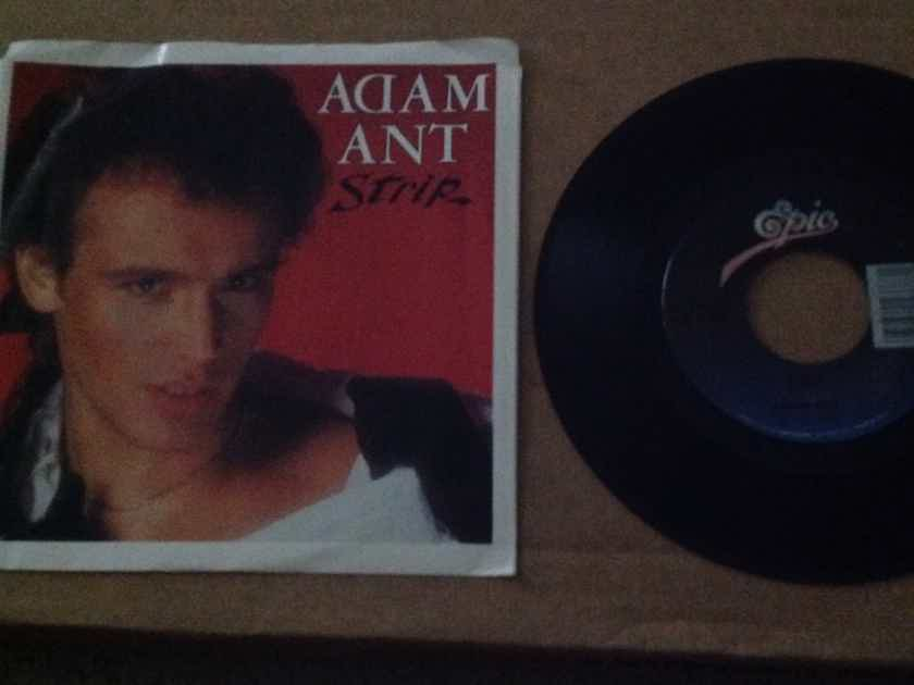 Adam Ant - Strip/Yours Yours Yours Epic Records 45 Single  With Picture Sleeve Vinyl NM
