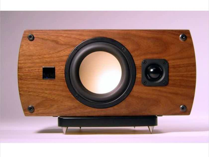 Lucid Acoustics Proto 5C Center Channel Satin Walnut; 5-C (New Old Stock) (13120)