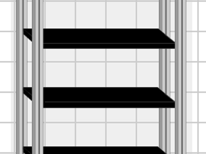Salamander Designs SU40B/A 6 Shelves