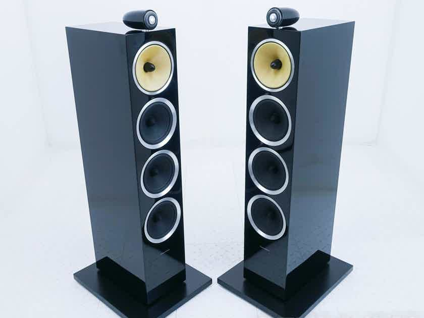 B&W CM10 S2 Floorstanding Speakers; Gloss Black Pair (17317)