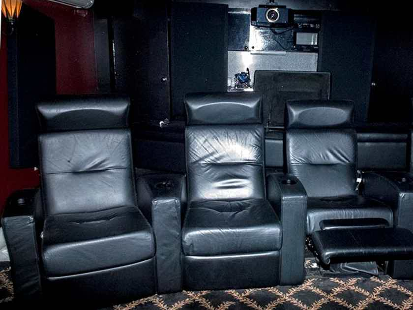 Salamander Designs FRONT ROW HOME THEATER RECLINERS; LEATHER; see photo