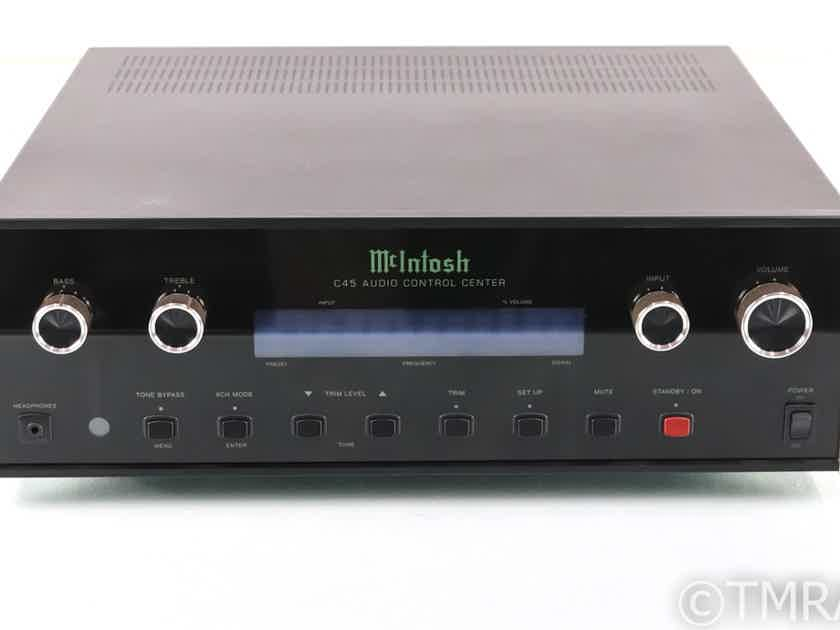 McIntosh C45 5.1 Channel Preamplifier; MM Phono; Remote; C-45 (28748)