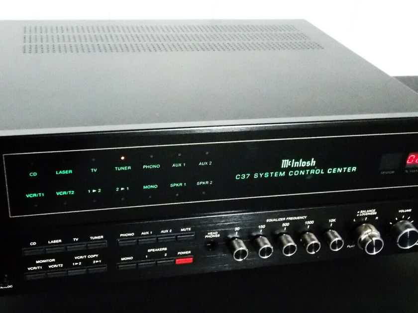 McIntosh C-37 Made In The U.S.A Pre Amp With Original Factory Remote And Box