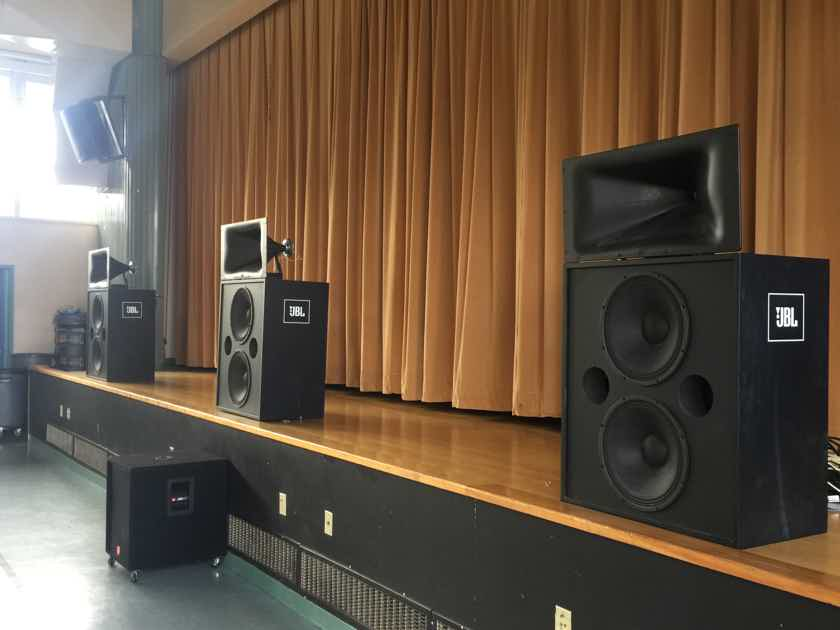 "JBL Pro CInema Screen Array with 3722N 3739 3722-HF Horns & Woofers with JRX-118SP 18"" Subwoofer"