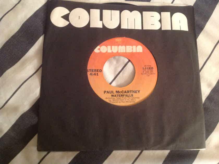 Paul McCartney Waterfalls/Check My Machine Columbia Records Single