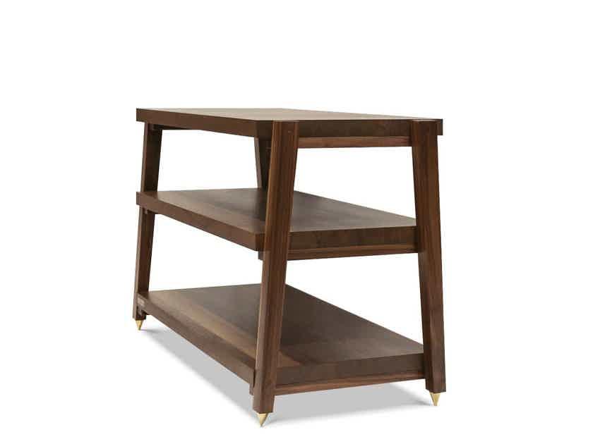 "Butcher Block Acoustics rigidrack™ 36"" X 20"" - 3 Shelf - Walnut Shelves -Walnut Legs"