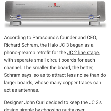 Parasound Halo JC-3