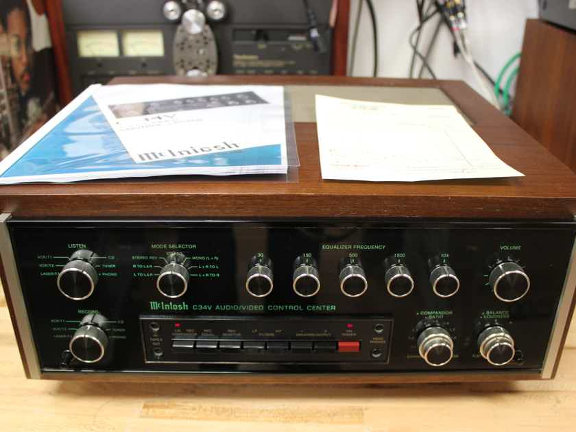 McIntosh C34V Audio/Video Control Center Preamplifier and Amplifier - Just Serviced