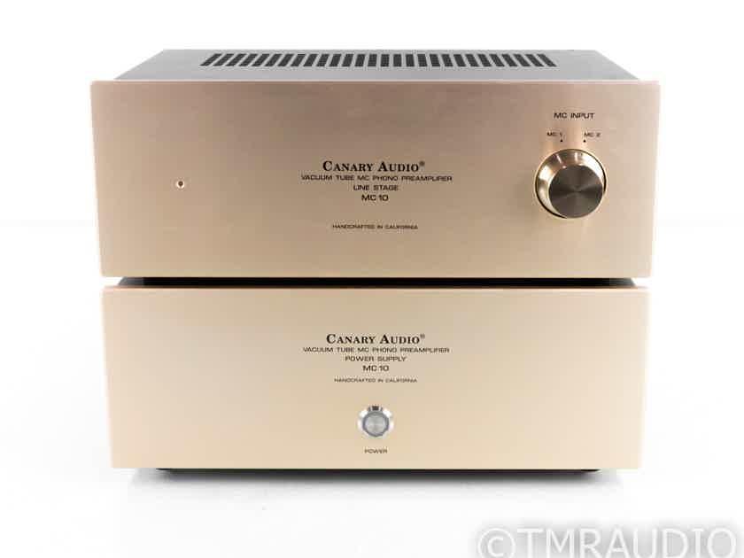 Canary Audio MC10 Tube MC Phono Preamplifier; MC-10; External Power Supply; Gold (21359)