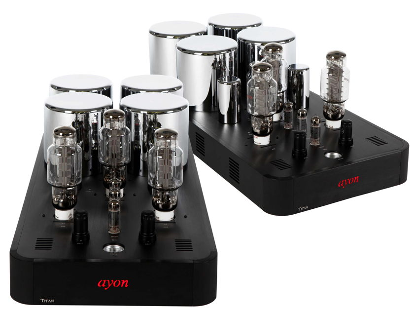 AYON AUDIO TITAN MONO AMPS SET 150 WATTS AWARD WINNING 8 YEARS RUNNING