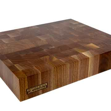 "Butcher Block Acoustics 18"" X 15"" X 3"" Walnut End-Grain Platform W/ Brass Footer"