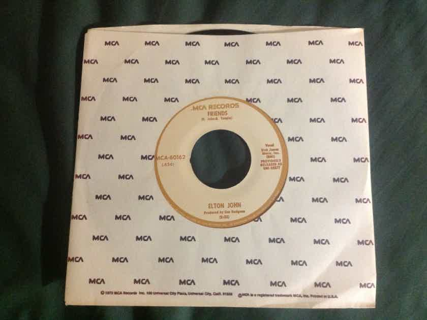 Elton John - Friends/Honey Roll 45 Single Vinyl  NM MCA Records
