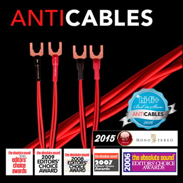 """ANTICABLES Level 3 """"Reference Series"""" 5 Foot Speaker wires"""
